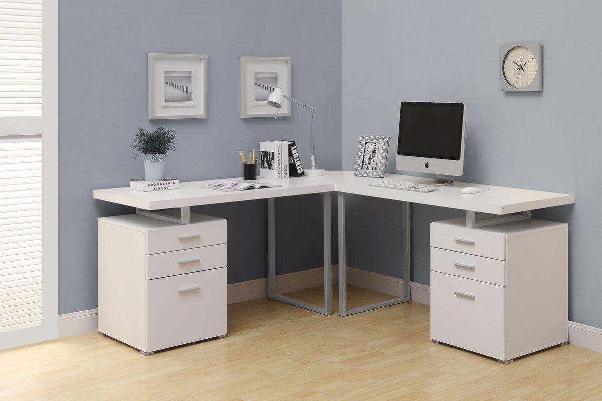 Monarch Specialties Inc. L-Shape Corner Desk & Reviews ...