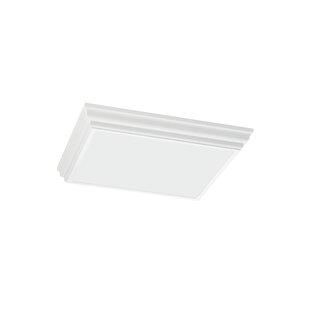rectangular flush mount ceiling light kitchen buzzard 4light flush mount squarerectangle mounts semi youll love wayfair