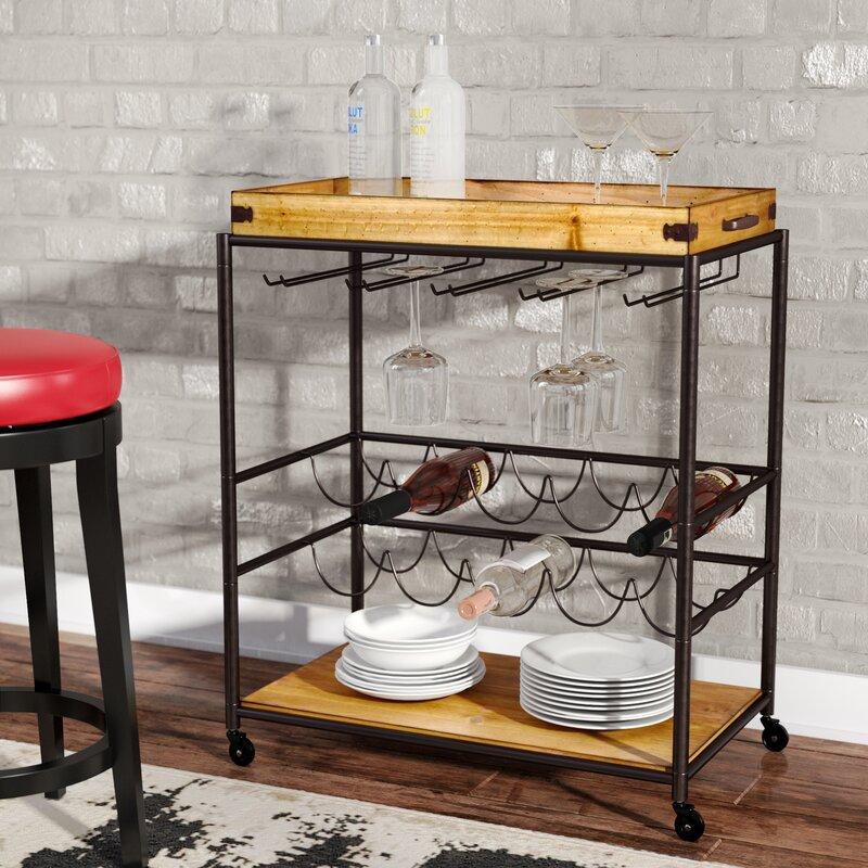 Well-liked Trent Austin Design Kahnah Bar Cart & Reviews | Wayfair TR25