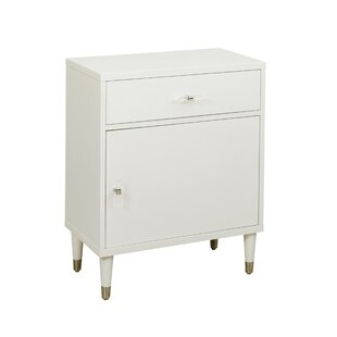 Whitcomb Modern Chairside 1 Drawer And 1 Door Accent Cabinet