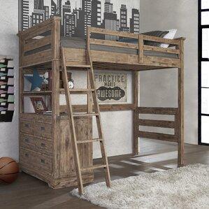 Loft Bed Images loft bunk & loft beds you'll love   wayfair