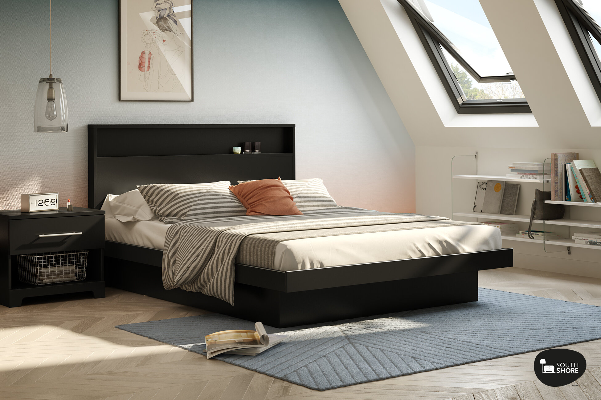 New Platform Bed Frame Queen Style