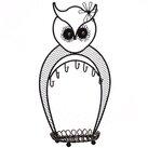 Ebern Designs Owl Display Metal Jewelry Stand
