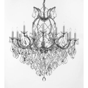Weidler 16-Light Chain Crystal Chandelier