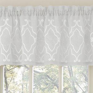 Carlyle Stitched Quatrafoil Kitchen Curtain Valance