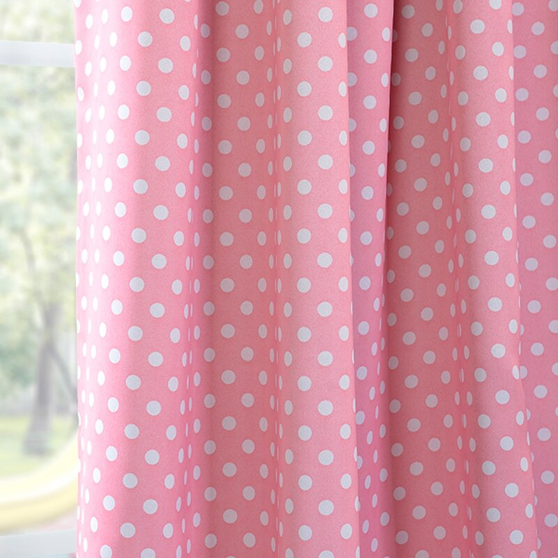 Exceptionnel Polka Dots Blackout Thermal Rod Pocket Single Curtain Panel
