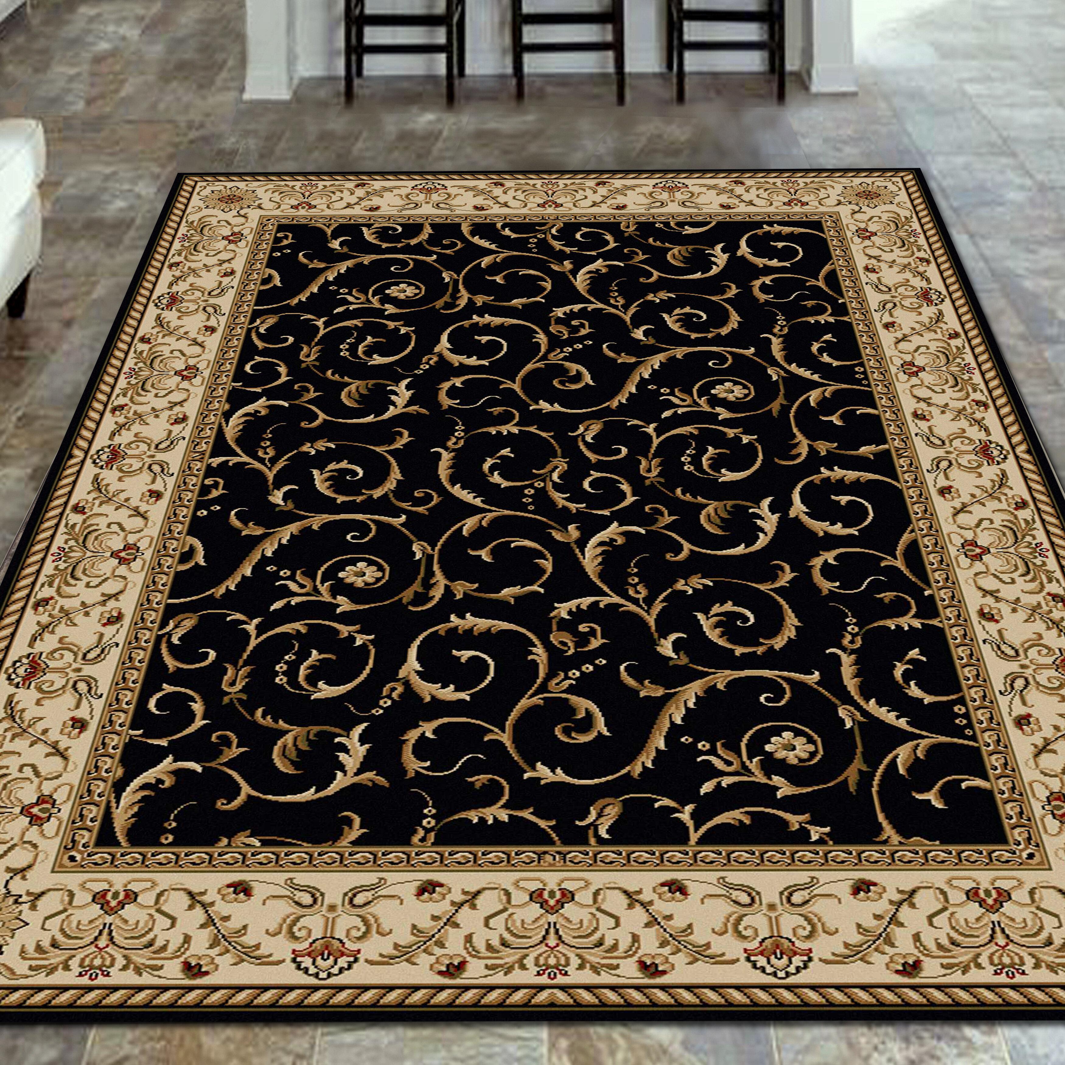 Astoria grand weisgerber black area rug reviews wayfair