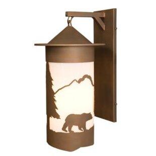 large outdoor wall lights rustic bear pasadena extra large hanging 1light outdoor wall lantern light wayfair