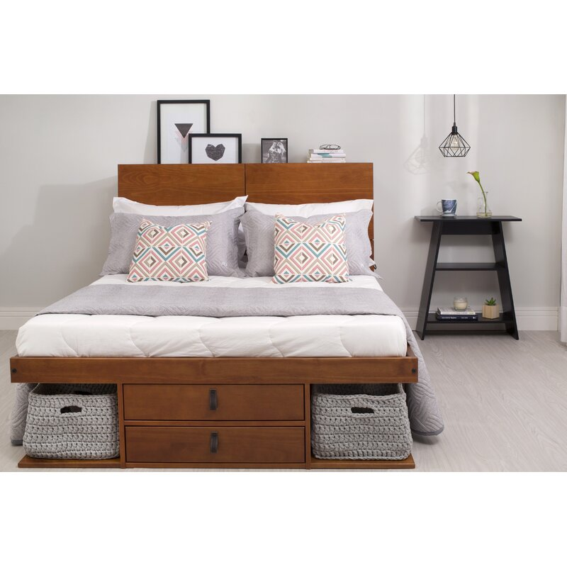 Latitude Run Pharr Storage Platform Bed Amp Reviews Wayfair