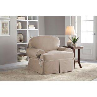 Twill T Cushion Armchair Slipcover