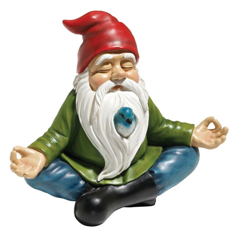 Gnome In Garden: Design Toscano Zen Garden Gnome Statue & Reviews