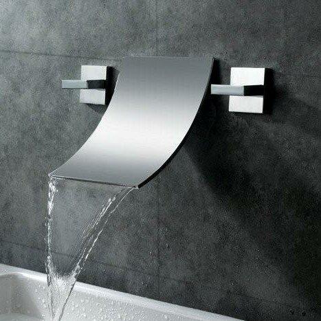 Sumerain Wall Mount Waterfall Bathroom Sink Faucet U0026 Reviews | Wayfair