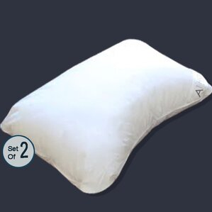 Microfiber Down Alternative Contour Pillow (Set of 2) by A1 Home Collections LLC