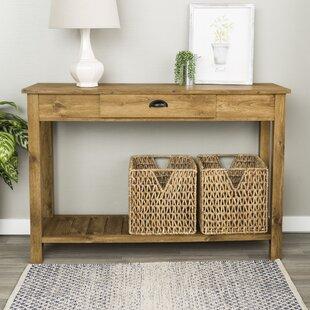 Oak Entry Table   Wayfair