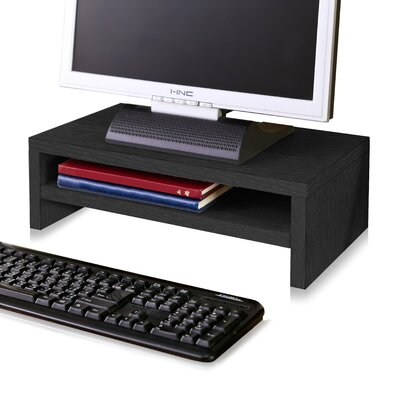 Ormonde 2 Shelf Computer Monitor Stand zBoard Laptop Riser Andover Mills Finish: Black