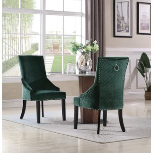Broseley Diamond Button Tufted Upholstered Dining Chair (Set of 2)