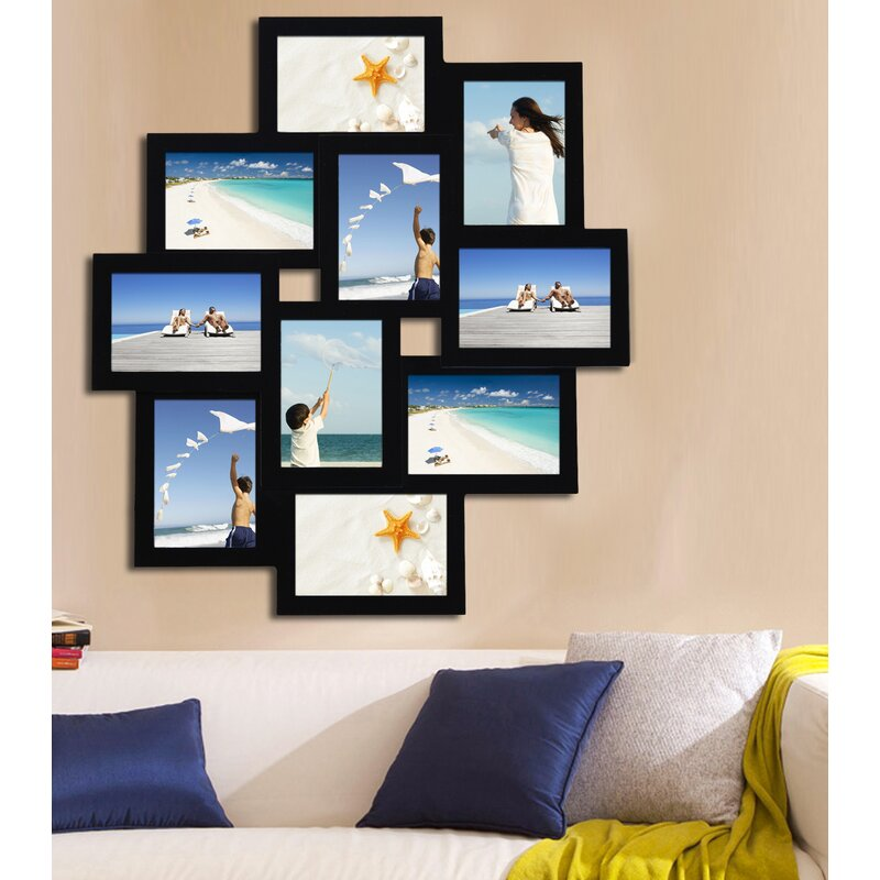 6f05eb467ca AdecoTrading 10 Opening Wood Photo Collage Wall Hanging Picture ...
