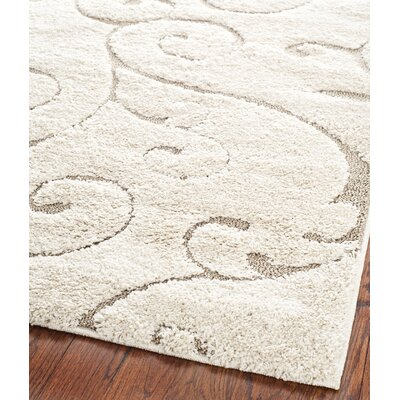 5 X 8 Ivory Amp Cream Floral Rugs You Ll Love Wayfair