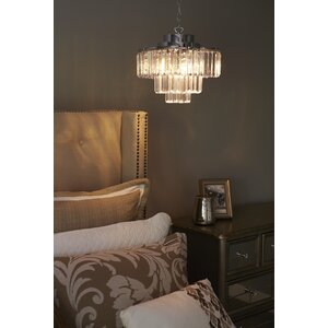 Viaan Cascading 3-Light Crystal Chandelier