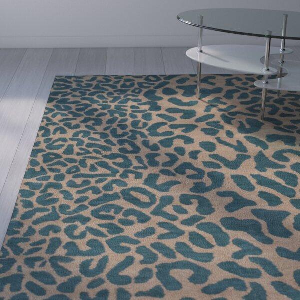 Leopard Print Area Rug Part - 35: Wade Logan Macias Teal Animal Print Area Rug U0026 Reviews | Wayfair
