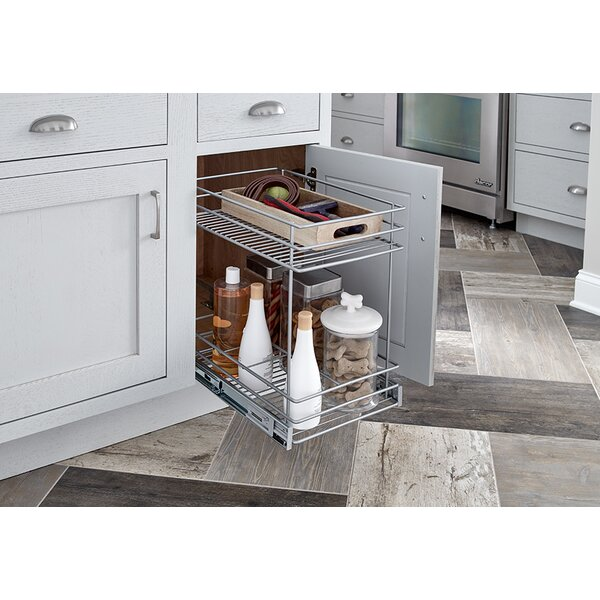 Closetmaid 2 tier kitchen cabinet pull out basket for Wayfair kitchen cabinets
