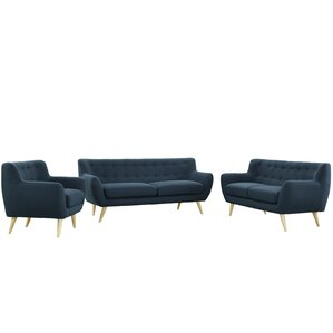 Meggie 3 Piece Living Room Set by Langley St..