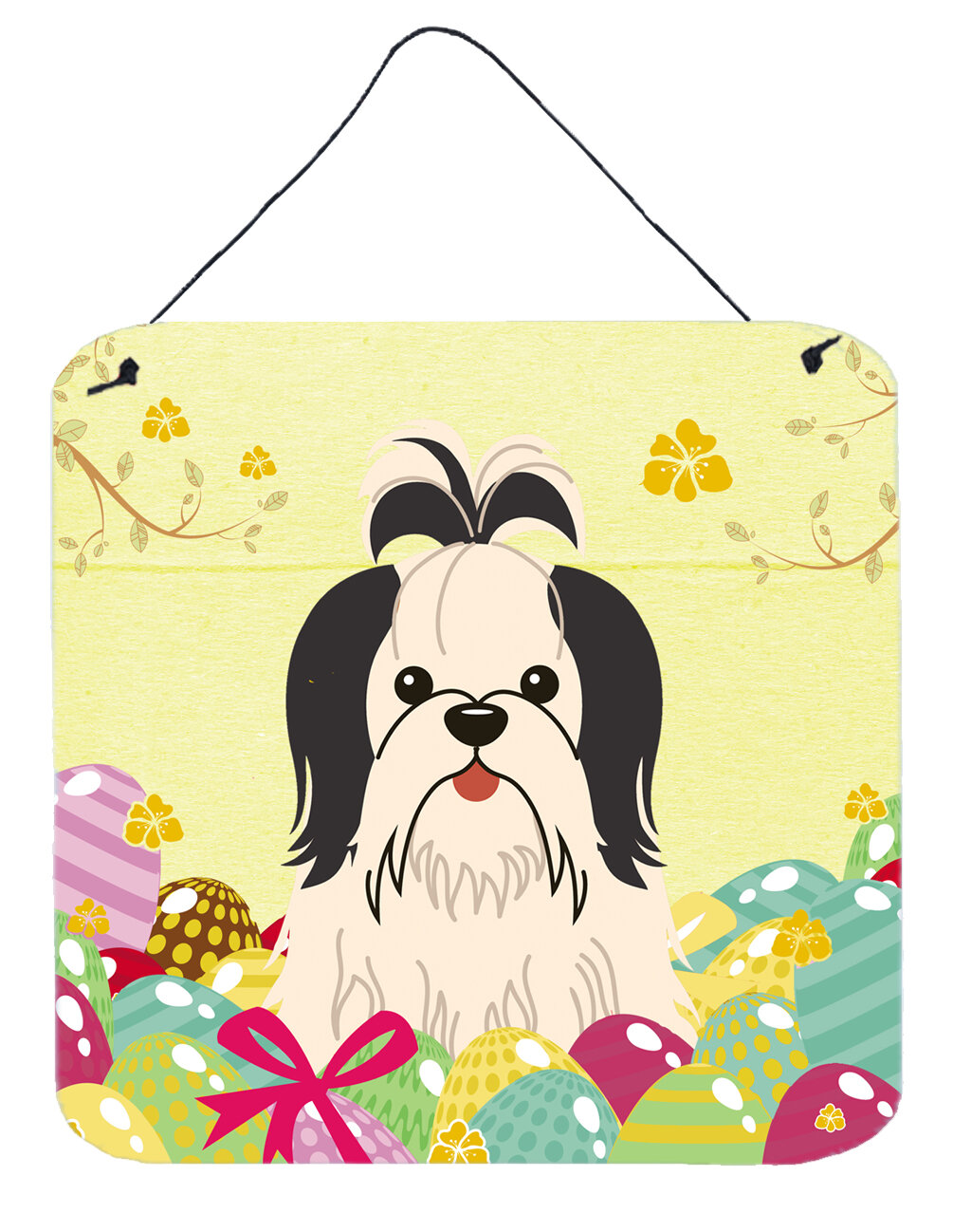 The Holiday Aisle Easter Eggs Shih Tzu Gloss Wall Décor | Wayfair