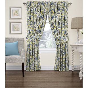 Imperial Dress Nature Fl Room Darkening Rod Pocket Single Curtain Panel By Waverly