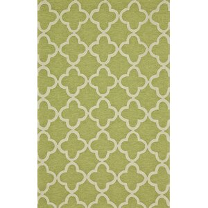 Hand-Tufted Green Outdoor Area Rug