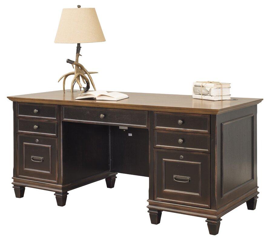 Riverside Home Office Executive Desk 44732: Kathy Ireland Home By Martin Furniture Hartford Executive