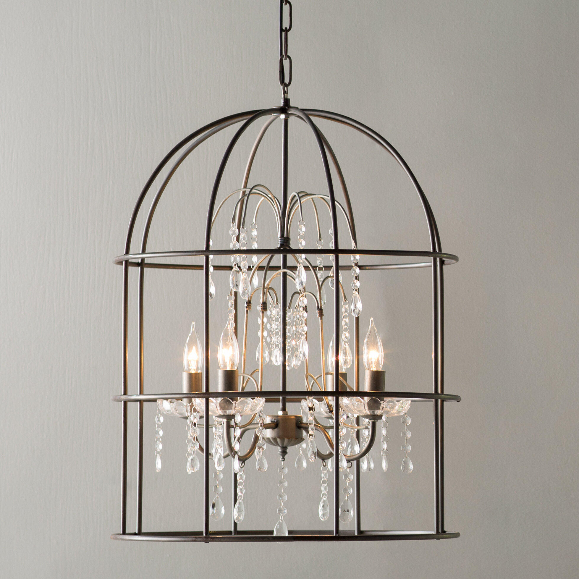 buy iron wrought and lights crystal chandelier