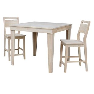 Theodosia 3 Piece Pub Table Set