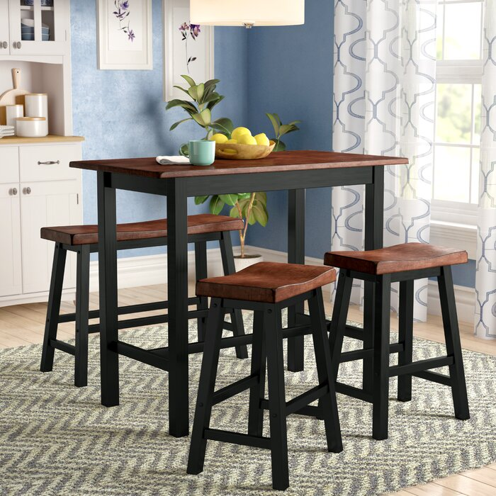 better set height park chairs table walmart four mocha finish piece dining dalton homes gardens and ip includes counter com chair