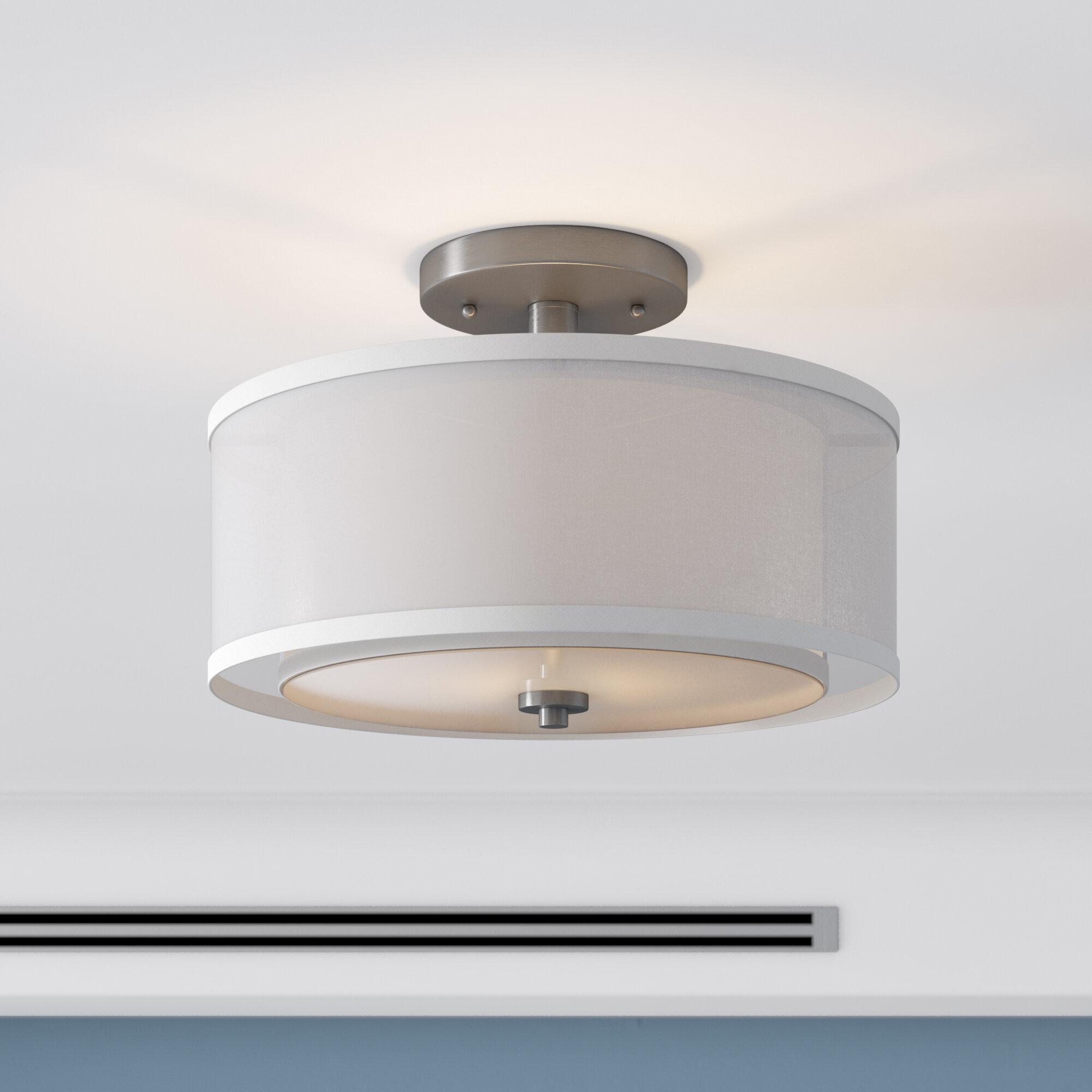 zipcode design nettie semi flush ceiling fixture reviews wayfair