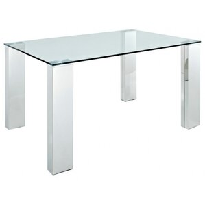Rectangle Glass Pub Table