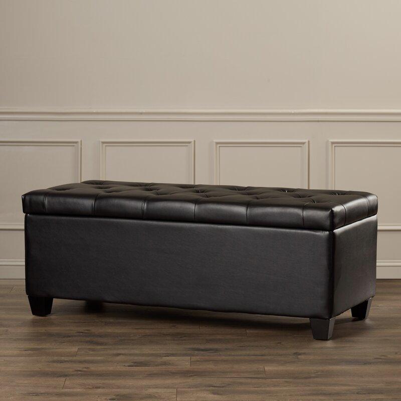 Charlotte Leather Storage Bench