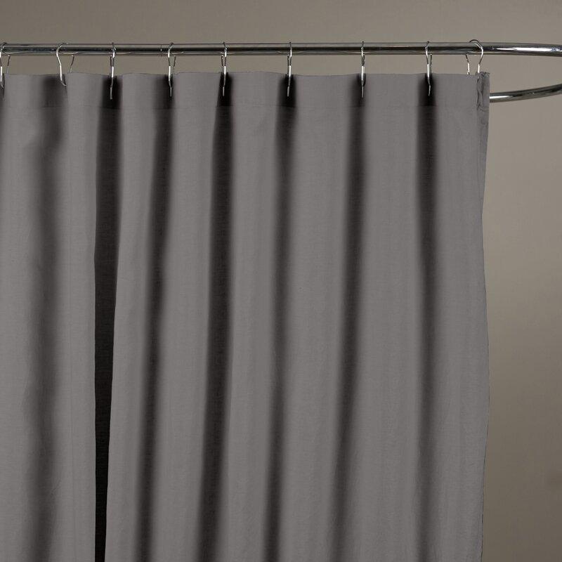 Reva Belgian Linen Shower Curtain & Reviews | Birch Lane