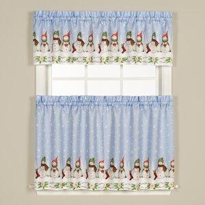 Winter Wonderland Cafe Curtain