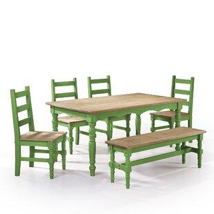 Pinard 6 Piece Solid Wood Dining Set