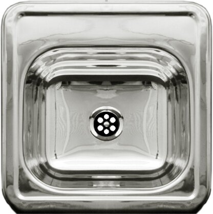 "Entertainment 15"" x 15"" Prep Square Drop in Kitchen Sink"