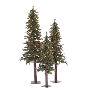 natural alpine green artificial christmas tree with 450 clear lights