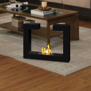 Brienne Ventless Free Standing Ethanol Fireplace by Orren Ellis