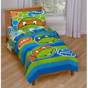 Teenage Mutant Ninja Turtles Awesome Toddler Bedding Set