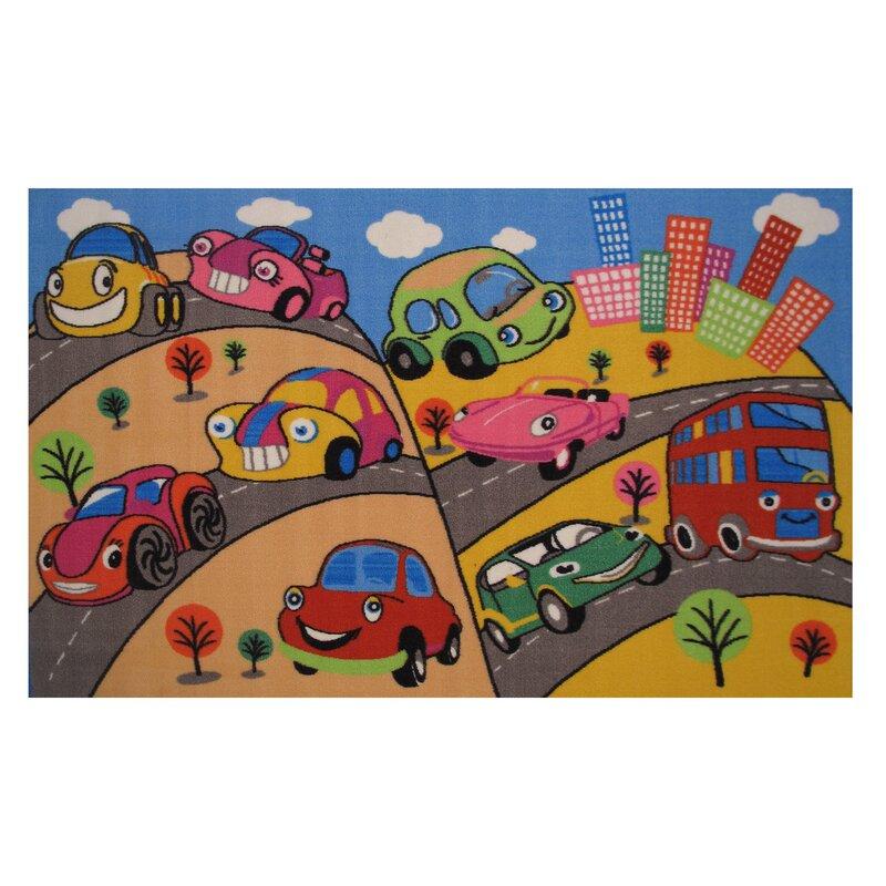 Fun Rugs Fun Time Fun Cars Kids Rug Wayfair