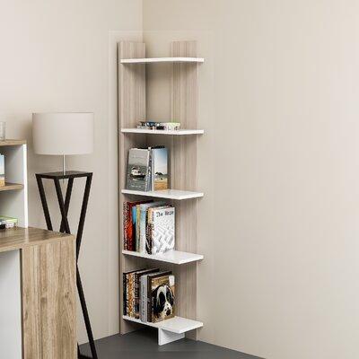 Zipcode Design Lynnfield Corner Bookcase Color (Body/Front): White/Cordoba