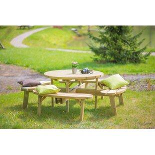 Itzel Wooden Picnic Bench by Lynton Garden