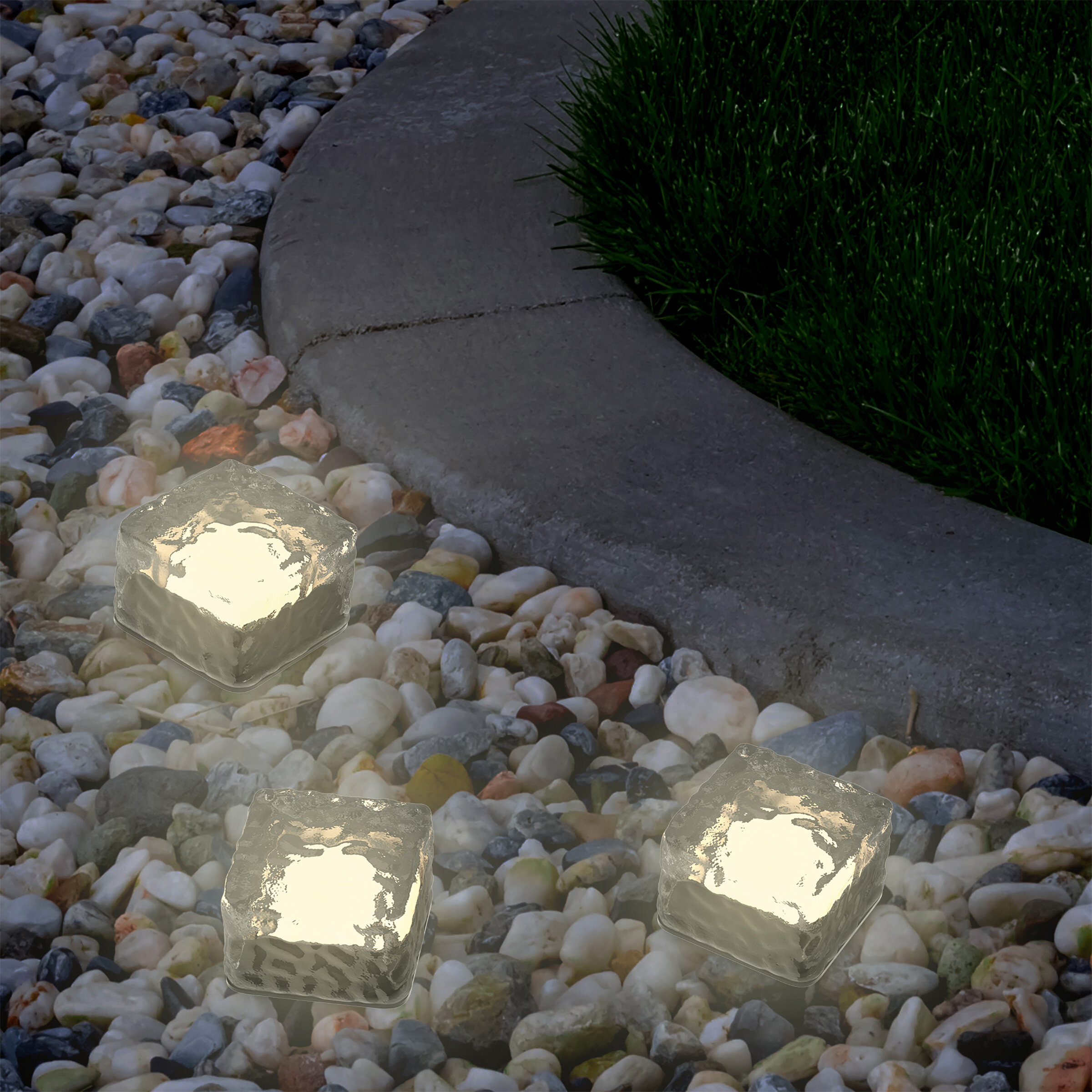 Solar Lamps Outdoor Lighting Solar Powered Led Road Stud Light Pebbles Decorative Stones Landscape Lighting Waterproof For Outdoor Patio Lawn Garden Yard
