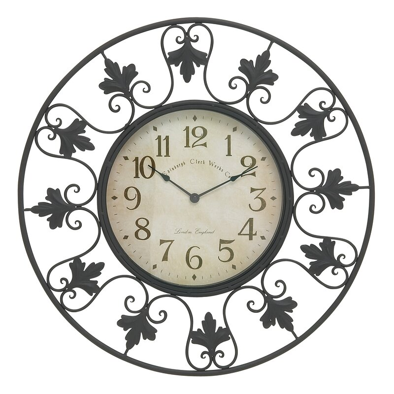 Darby Home Co Oversized Secaucus 23 Decorative Outdoor Wall Clock