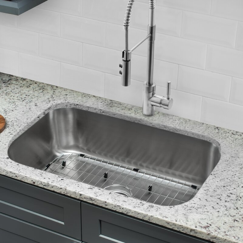 Undermount Kitchen Sink With Faucet And Soap Dispenser