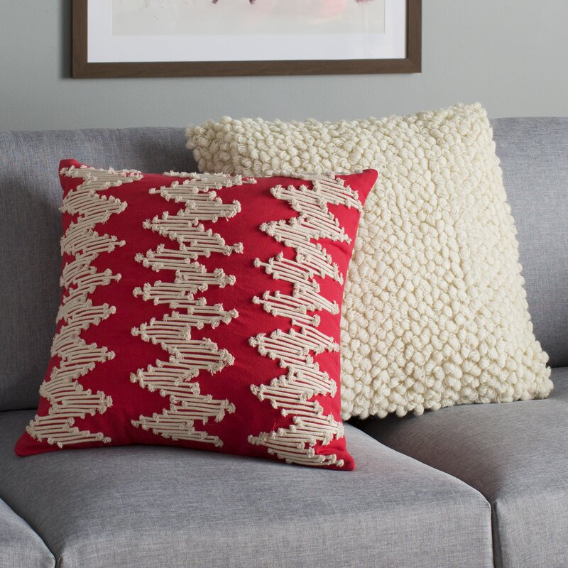 Birch Lane Frosted Chevron Pillow Cover Amp Reviews Wayfair Ca